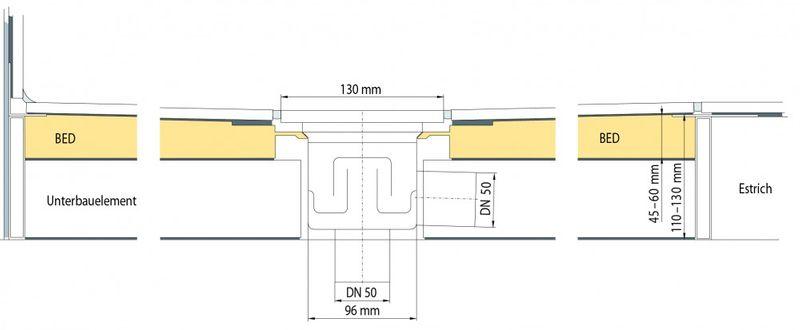 Duschboard inkl.Ablauf bodengleiche duschen Duschelement Universalboard bodeneben