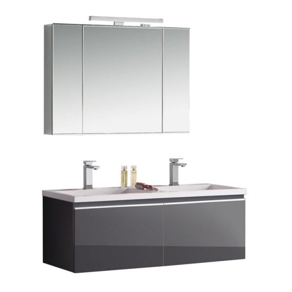 Badmöbel | Badezimmermöbel-Set Spiegelschrank-LED
