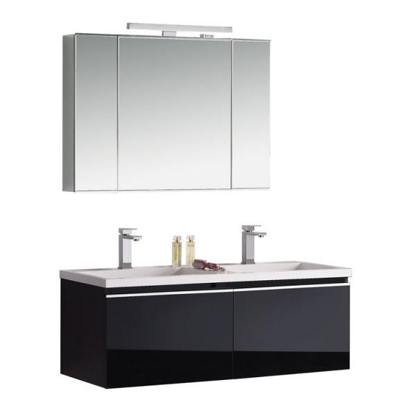 Badmöbel | Badezimmermöbel-Set Spiegelschrank-LED Bild 2