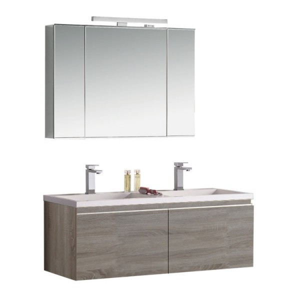 Badmöbel | Badezimmermöbel-Set Spiegelschrank-LED Bild 5