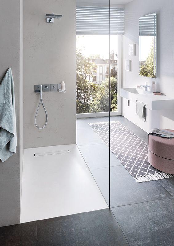 Duschsystem mit Mineralwerkstoff | werkseitiger Abdichtung | perfekt für die Renovierung/Neubau