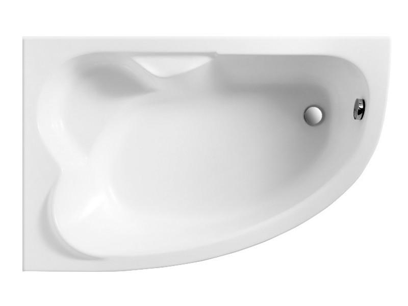 Badewanne | Wannen 140 x 80 cm Rechts  inkl. Wannenfuß und Ablaufgarnitur Bild 3