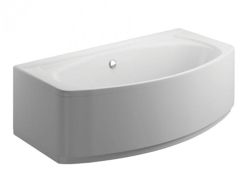 Badewanne Wanne Raumsparwanne eckbadewanne rechteck inkl. Wannenfuß und Ablaufgarnitur