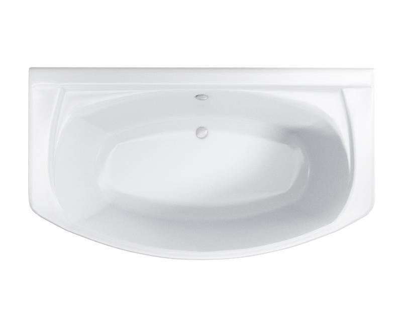 Badewanne Wanne Raumsparwanne eckbadewanne rechteck inkl. Wannenfuß und Ablaufgarnitur Bild 2