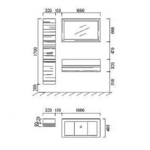 Badmöbelset Waschbecken Badezimmermöbel letzte Artikel Sonderangebot inkl. 2xSeitenschrank  Bild 3