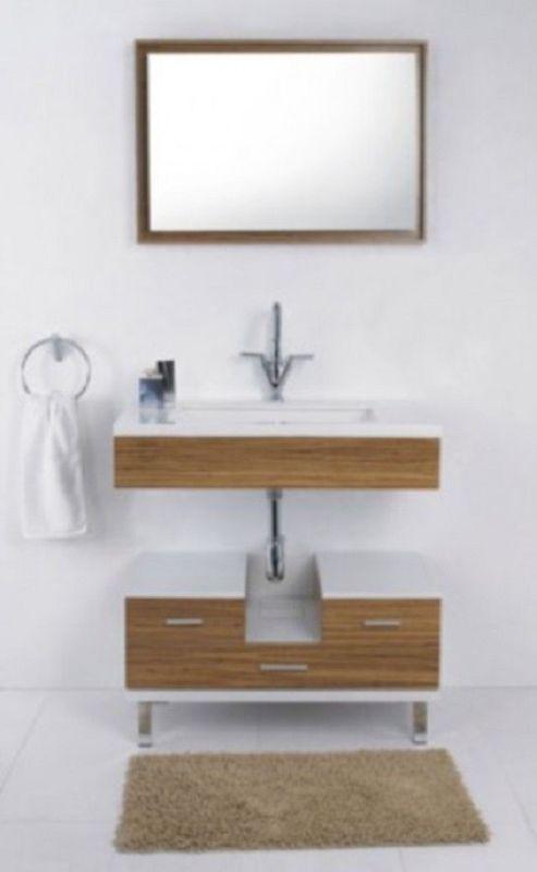 Badmöbelset Waschbecken Badezimmermöbel Spiegel unterschrank Restposten