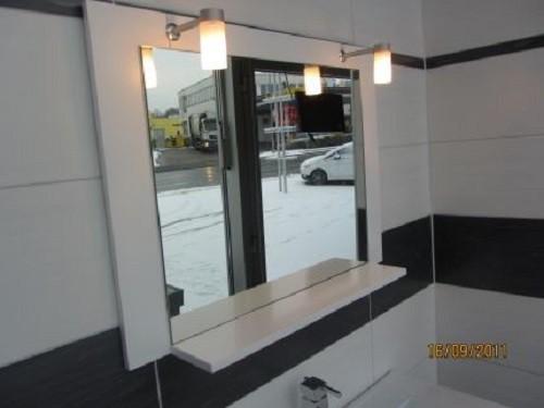 Badmöbelset Waschbecken Badezimmermöbel Spiegel unterschrank Restposten massivholz  Bild 2