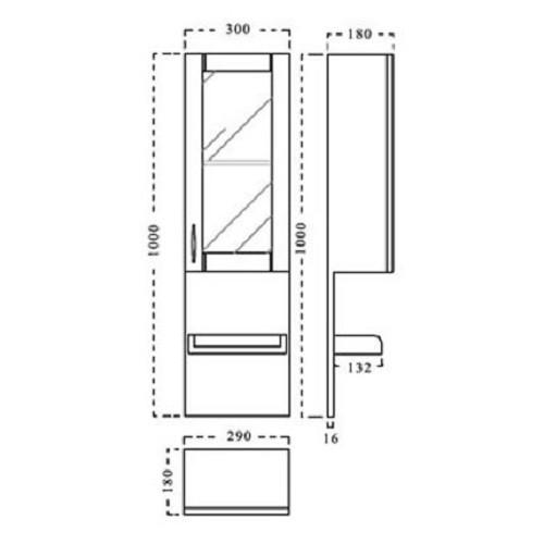 Badmöbelset Waschbecken Badezimmermöbel Spiegel unterschrank Restposten massivholz  Bild 4