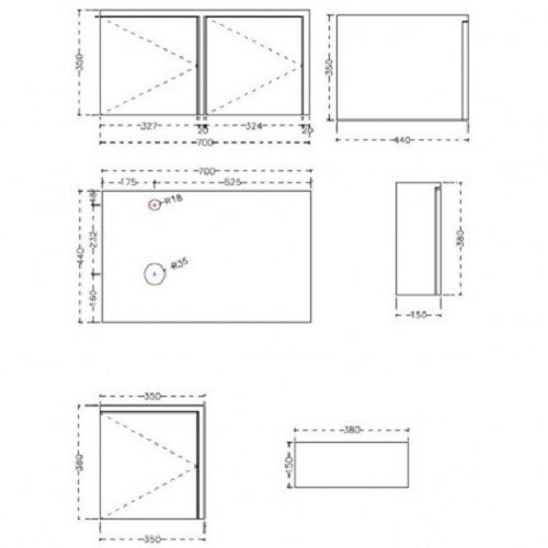 Badmöbelset Waschbecken Badezimmermöbel Spiegel unterschrank Restposten massivholz  Bild 5