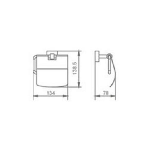 Exklusiver Design - Toilettenpapierhalter Bild 2