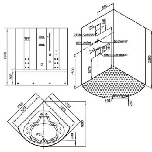 Duschkabine | Dampfdusche silber Bild 2