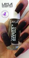 Layla Nagellack BROWN PELUCHE Velvet Effect Kollektion #04