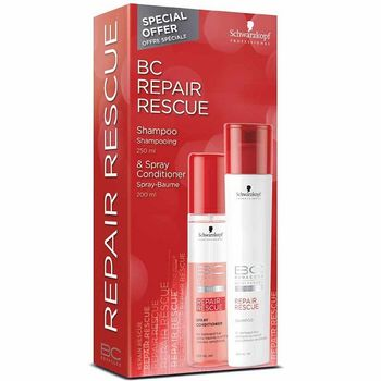 Schwarzkopf BC Repair Rescue Shampoo 250ml + Repair Rescue Spray Conditioner 200ml – Bild 1