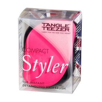 Tangle Teezer Compact Styler Pink Sizzle - Haarbürste Pink/Schwarz – Bild 3