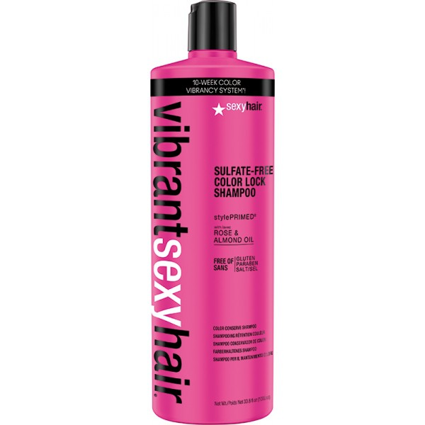 vibrant sexyhair sulfate free color lock shampoo 1000ml. Black Bedroom Furniture Sets. Home Design Ideas