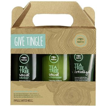 Paul Mitchell Tea Tree Give Tingle Tea Tree Special Shampoo 300ml + Tea Tree Conditioner 300ml + Tea Tree Firm Hold Gel 75ml