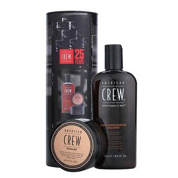 American Crew Geschenkset - Daily Moisturizing Shampoo 250ml + Pomade 85g