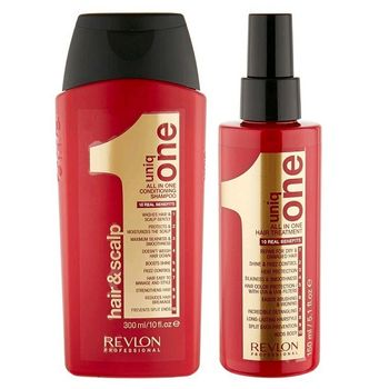 Revlon Uniq Set One All In One Hair & Scalp Conditioning Shampoo 300ml + All in One Hair Treatment 150ml