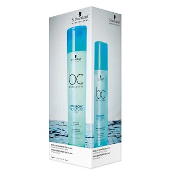 Schwarzkopf BC Hyaluronic Moisture Kick DUO Set - Shampoo 250ml + Spray Conditioner 200ml – Bild 1