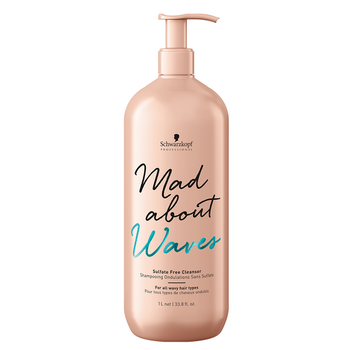 Schwarzkopf Mad About Waves Sulfate-Free Cleanser 1000ml - Shampoo