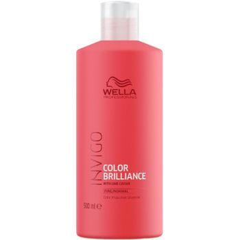 Wella Invigo Color Brilliance Haarshampoo 500ml feines bis normales coloriertes Haar + Dosierpumpe – Bild 1
