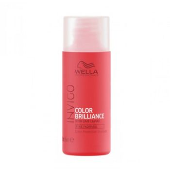 Wella Invigo Color Brilliance Haarshampoo 50ml feines bis normales coloriertes Haar