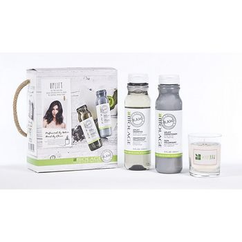 Matrix Biolage R.A.W. Uplift Kit Shampoo 325ml + Conditioner 325ml + Duftkerze