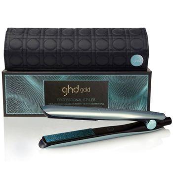 ghd Gold Glacial Blue Styler - Gold Styler blauem Design + Tasche