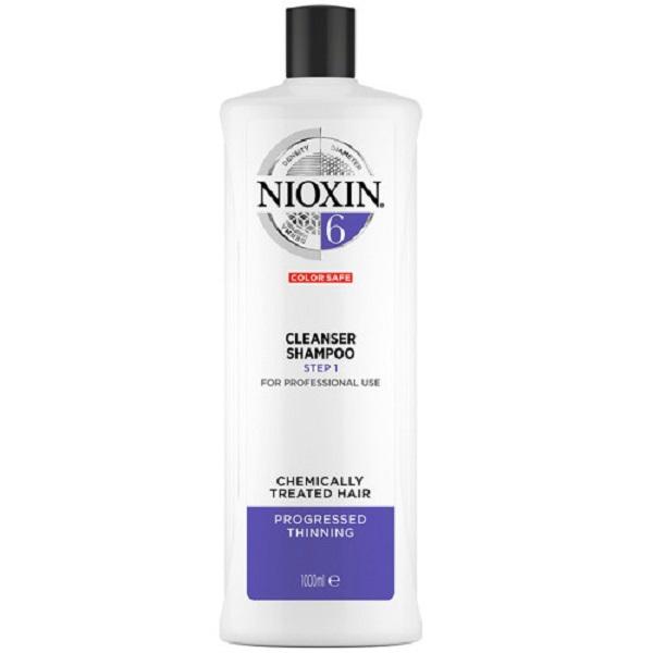 Wella Nioxin System 6 Cleanser Shampoo Step 1 1000ml Neu