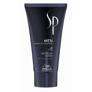 Wella SP System Professional Men Refresh Geschenkset Shampoo 250 ml + Refresh Tonic 125 ml + Defined Structure 100 ml + Shampoo 50 ml + Kosmetikbeutel  – Bild 6