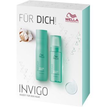 Wella Invigo Volume Boost Set - Shampoo 250ml + Bodifying Foam 150ml – Bild 1