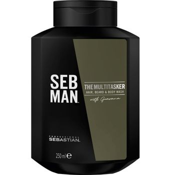 Sebastian SebMan The Multitasker 3in1 Shampoo 250ml - Hair, Beard & Body Wash