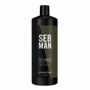 Sebastian SebMan The Multitasker 3in1 Shampoo 1000ml - Hair, Beard & Body Wash