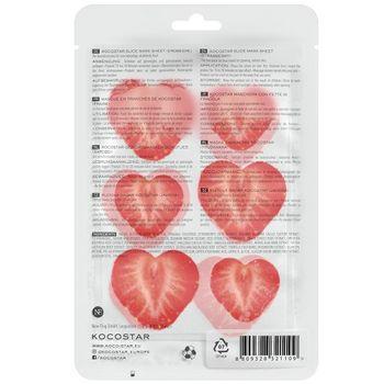 Kocostar Slice Mask Sheet Strawberry 10er Pack – Bild 2