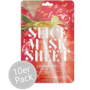 Kocostar Slice Mask Sheet Strawberry 10er Pack – Bild 1