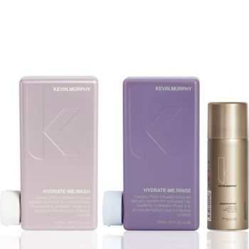 Kevin.Murphy Hydrate.Me Set inkl. Haarspray - Shampoo 250 ml + Conditioner 250 ml + Session Haarspray 100 ml – Bild 1