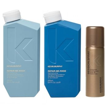 Kevin.Murphy Repair.Me Set inkl. Gratis Haarspray - Shampoo 250 ml + Conditioner 250 ml + Session Haarspray 50 ml gratis – Bild 1