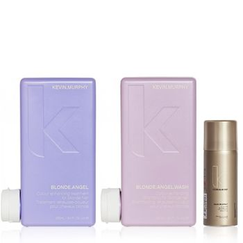 Kevin.Murphy Blonde.Angel Set inkl. Haarspray - Shampoo 250 ml + Conditioner 250 ml + Session Haarspray 100 ml – Bild 1