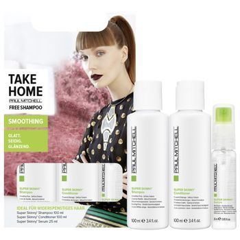 Paul Mitchell Take Home Super Skinny - Conditioner 100 ml + Serum 25 ml + Free Shampoo 100 ml