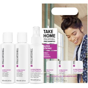 Paul Mitchell Take Home Super Strong - Conditioner 100 ml + Liquid Treatment 100 ml + Free Shampoo 100 ml