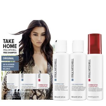 Paul Mitchell Take Home Original - The Conditioner 100 ml + Sculpting Foam 59 ml + Free Shampoo One 100 ml