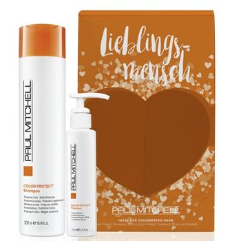 Paul Mitchell Lieblingsmensch Color Protect - Shampoo 300ml + Treatment 75ml + Free Windlicht – Bild 1