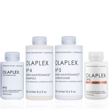 Olaplex Set - Hair Perfector No. 3 + Shampoo No. 4 + Conditioner No. 5 + Bond Smoother No. 6 – Bild 1