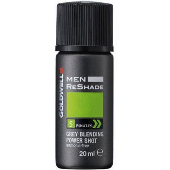 Goldwell Men Reshade 4CA 4 x Shots 20 ml - mittel-aschbraun – Bild 1