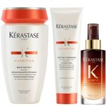 Kérastase Nutritive Set - Bain Satin 1 250ml + Nectar Thermique 150ml + 8H Magic Night Serum 90ml 001