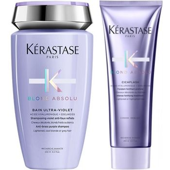 Kérastase Blond Absolu Set - Bain Ultra-Violet 250ml + Cicaflash 250 ml