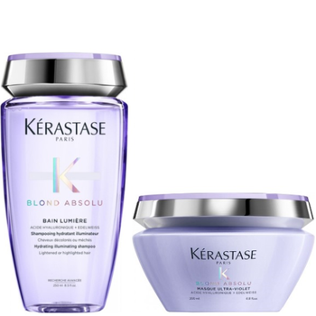 Kérastase Blond Absolu Set - Bain Lumiere 250 ml + Masque Ultra-Violet 200 ml – Bild 1