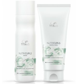 Wella NutriCurls Waves Set - Shampoo Waves 250 ml + Conditioner 200 ml – Bild 1