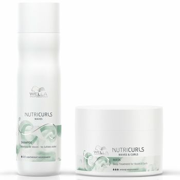 Wella NutriCurls Waves Set - Shampoo Waves 250 ml + Maske 150 ml – Bild 1