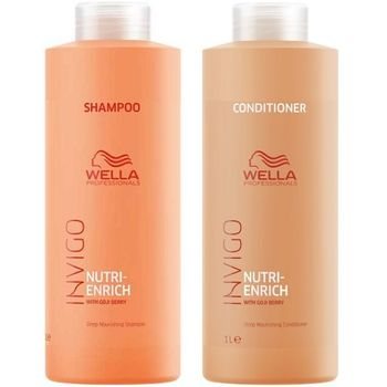Wella Invigo Nutri-Enrich Set - Shampoo 1000 ml + Conditioner 1000 ml – Bild 1